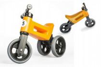 Odrážedlo oranžové FUNNY WHEELS 2v1 výška sedadla nastavitelná 28/31cm nosnost 50kg 18m+ - VÝPRODEJ