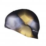 Spokey Abstract plavecká čepice silikonová hnědo-žlutá