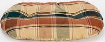 Polštář ovál textil Relax hnědé káro 60 cm