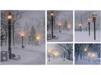 obraz plátno 3LED 50x40x1,5cm - mix variant či barev