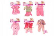 Oblečky/Šaty pro panenky/miminka velikosti 20-30cm 6 druhů v sáčku 25x40cm