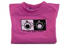 Dětské tričko Mayaka s krátkým rukávem A Hard Day´s Night - růžové Vhodné pro věk 2-3 roky - VÝPRODEJ