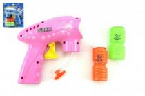 Pistole bublifuk plast 15x15cm na setrvačník - mix barev
