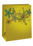 Dárková taška DC - khaki květy - VÝPRODEJ