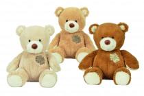 Plyšový medvídek s ozdobnou záplatou, 25cm - mix variant či barev