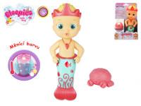 """Bloopies """"Cobi"""" mořská panna 23 cm měnící barvu a stříkající"""
