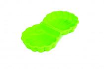 Pískoviště mušle s víkem zelené