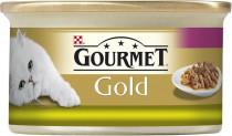 Gourmet Gold cat konz.-duš.a gril.k.králík a játra 85 g