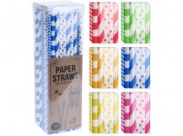 brčka 6x195mm papírová (100ks) - mix barev - VÝPRODEJ