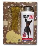 Dárkové balení pro psy - šampon + pamlsek s obrázkem pinče - VÝPRODEJ