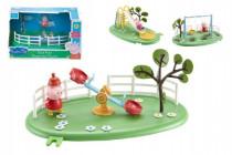 Herní prvky hřiště + figurka Prasátko Peppa plast - mix variant či barev