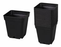 Kontejner pěstební plastový černý 11x11x12cm 15ks