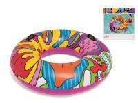 Kruh nafukovací 119 cm barevný s úchyty