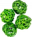 Dekorace - Lata Ball 4 cm - zelený 4 ks