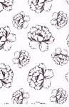 Balicí papír v roličce 2ks 70x100 bílá s květy - VÝPRODEJ