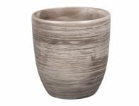 Obal na květník KODET GREY keramický matný d20x21cm