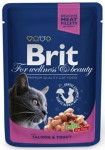 Brit Premium Cat kaps. -Gravy Salmon & Trout 100 g