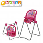 Jídelní židlička pro panenky 3v1, Birdie