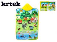 Elektronická hrací podložka Krtek a zvířátka 42x61cm
