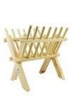 Jesličky dřevěné stojánek 26x23x17cm - VÝPRODEJ