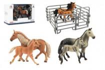 Zvířátka domácí farma 12cm sada plast kůň s doplňky 4 druhy - VÝPRODEJ