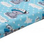 Dětská pěnová matrace New Baby 120x60 modrá - různé obrázky - VÝPRODEJ
