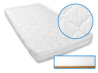 Dětská matrace 120x60x8 cm, kokos - molitan, Superlux, bílá, Cuculo