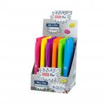 Rainbow automatické kuličkové pero, semi gel, papír. display 36 ks