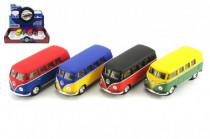Autobus Kinsmart VW Classical kov 13cm na zpětné natažení - mix barev