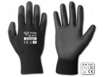 rukavice PURE BLACK PU 9 - VÝPRODEJ