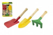 Nářadí zahradnické pro děti dřevo kov 15x22cm