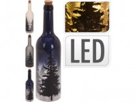 láhev dekorativní 10LED pr.7,3x31cm STROMY - mix barev