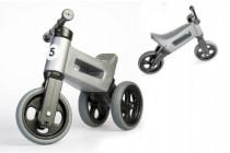 Odrážedlo šedé FUNNY WHEELS NEW SPORT 2v1 výška sedadla nastavitelná 28/31cm nosnost 50kg 18m+