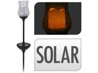 lampa solární 1LED KVĚTINA v.34,5cm PH/sklo