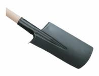 Rýč obloukový, dřevěná T násada, černý