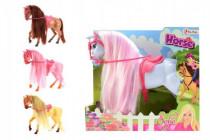 Kůň Sofie plast 26cm - mix barev