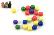Kuličky cvrnkací nerozbitné 20ks v látkovém pytlíčku - mix barev
