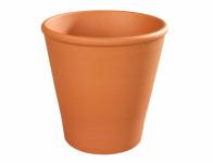 Květník ROSA keramický terakota 12/14x14cm - VÝPRODEJ