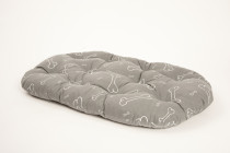 Polštář ovál Kost šedo/bílý (bavlna) 80 cm