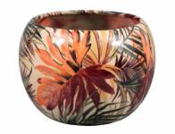 Obal na květník MANES PALMA keramický lesklý d16x17cm