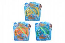 Bublifuk/sada na velké bubliny plast 4ks - mix barev