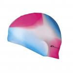 Spokey Abstract plavecká čepice silikonová růžovo-modrá