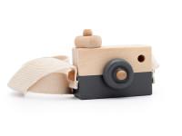 Foťák - dřevěná montessori hračka, šedá