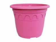Květník ROMA plastový fialovo růžový 25x20cm 5,9l