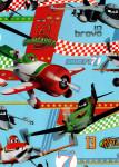 Balicí papír dětský 2mx70 cm, Letadla/Planes - tyrkysový, DITIPO - VÝPRODEJ