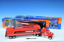 Kamion kontejnerový 57cm na setrvačník - mix barev
