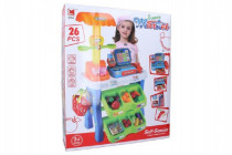 Hrací sada supermarket pokladna 26ks plast 50x87cm na baterie se zvukem se světlem - VÝPRODEJ