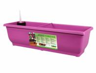 Truhlík samozavlažovací TORENIE plastový fialovo růžový 60cm - VÝPRODEJ