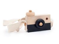 Foťák - dřevěná montessori hračka, černá