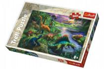 Puzzle Dinosauři 260 dílků 60x40cm